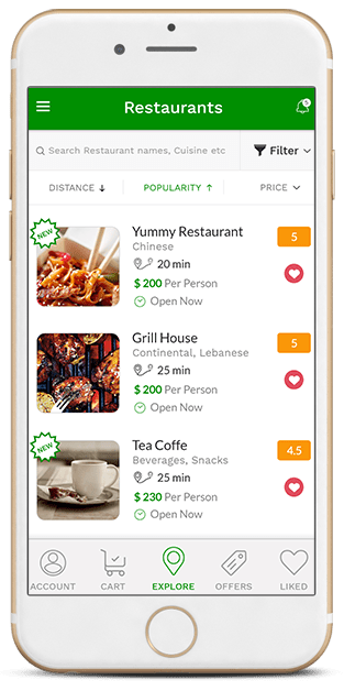 geek digital restaurant application browser and booking